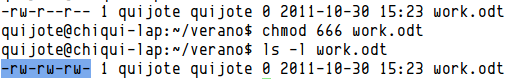 Modo absoluto de chmod